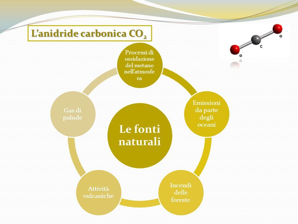 Le fonti naturali L'anidride carbonica CO2