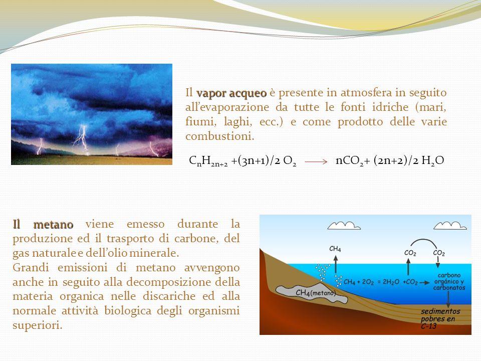 Il vapor acqueo è presente in atmosfera in seguito all'evaporazione da tutte le fonti idriche (mari, fiumi, laghi, ecc.) e come prodotto delle varie combustioni.