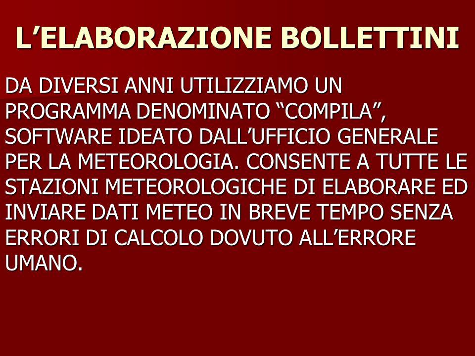 L'ELABORAZIONE BOLLETTINI