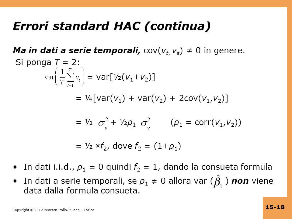 Errori standard HAC (continua)
