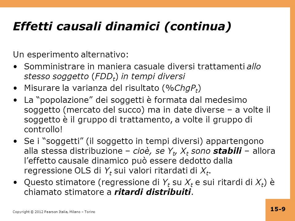 Effetti causali dinamici (continua)
