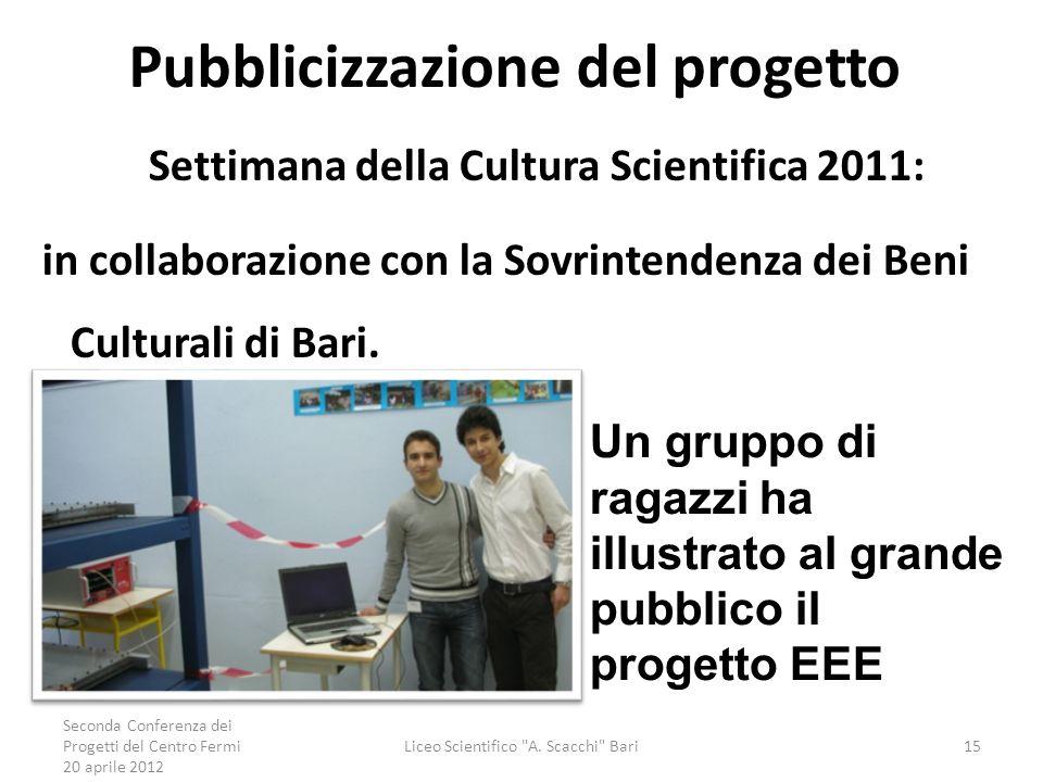 Pubblicizzazione del progetto