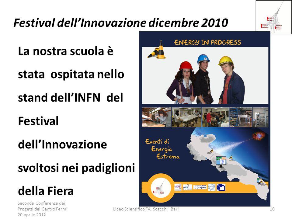 Festival dell'Innovazione dicembre 2010