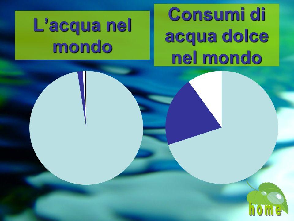 Consumi di acqua dolce nel mondo