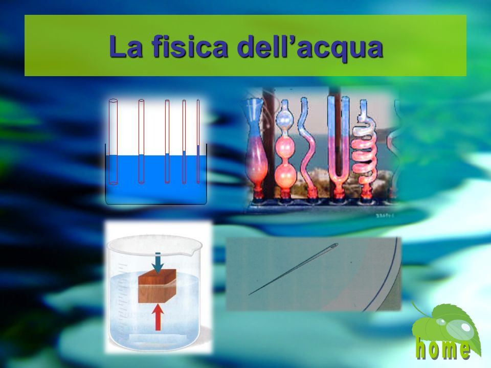 La fisica dell'acqua home