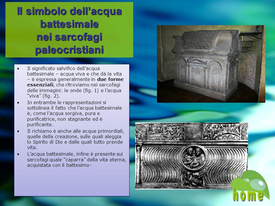 Il simbolo dell'acqua battesimale nei sarcofagi paleocristiani