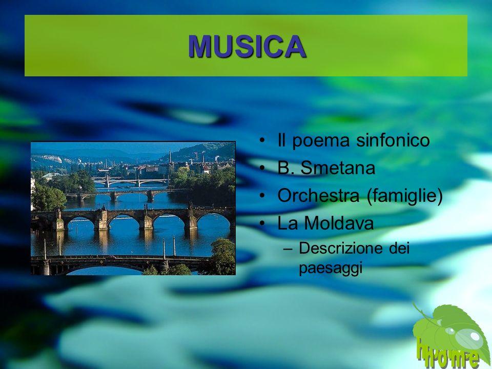MUSICA home home Il poema sinfonico B. Smetana Orchestra (famiglie)