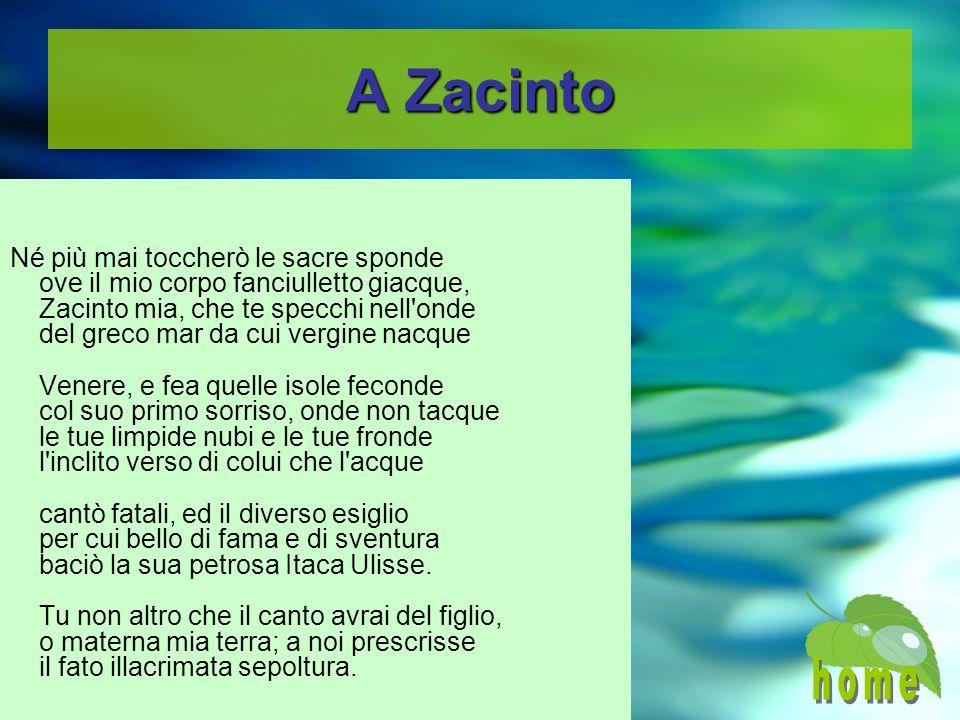 A Zacinto