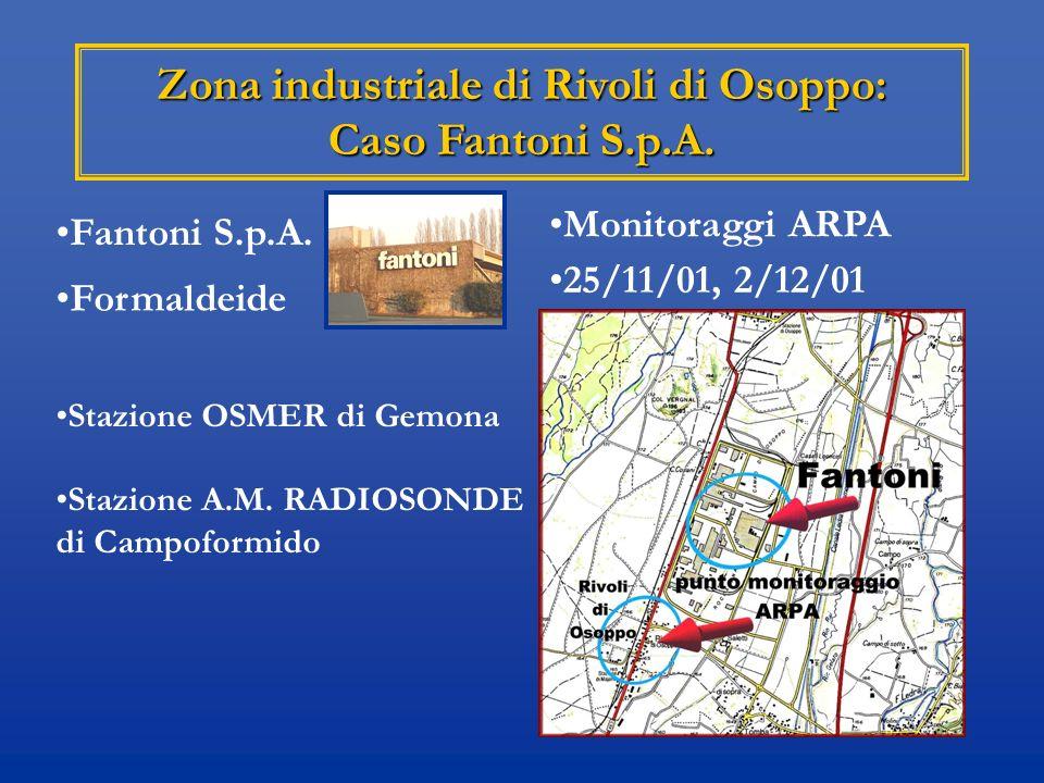 Zona industriale di Rivoli di Osoppo: Caso Fantoni S.p.A.