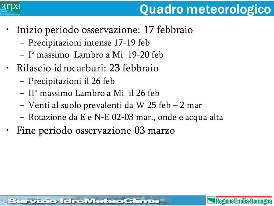 Quadro meteorologico Inizio periodo osservazione: 17 febbraio