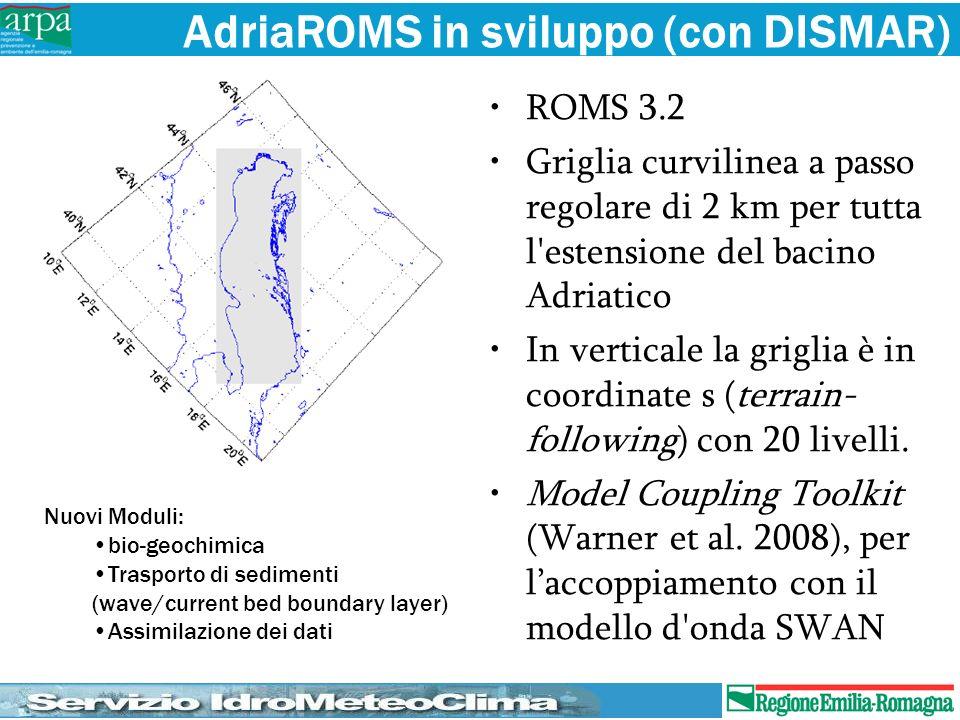 AdriaROMS in sviluppo (con DISMAR)