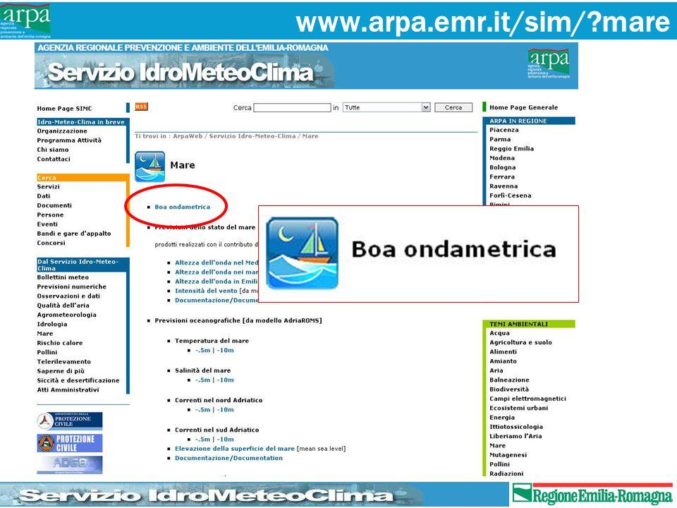 www.arpa.emr.it/sim/ mare