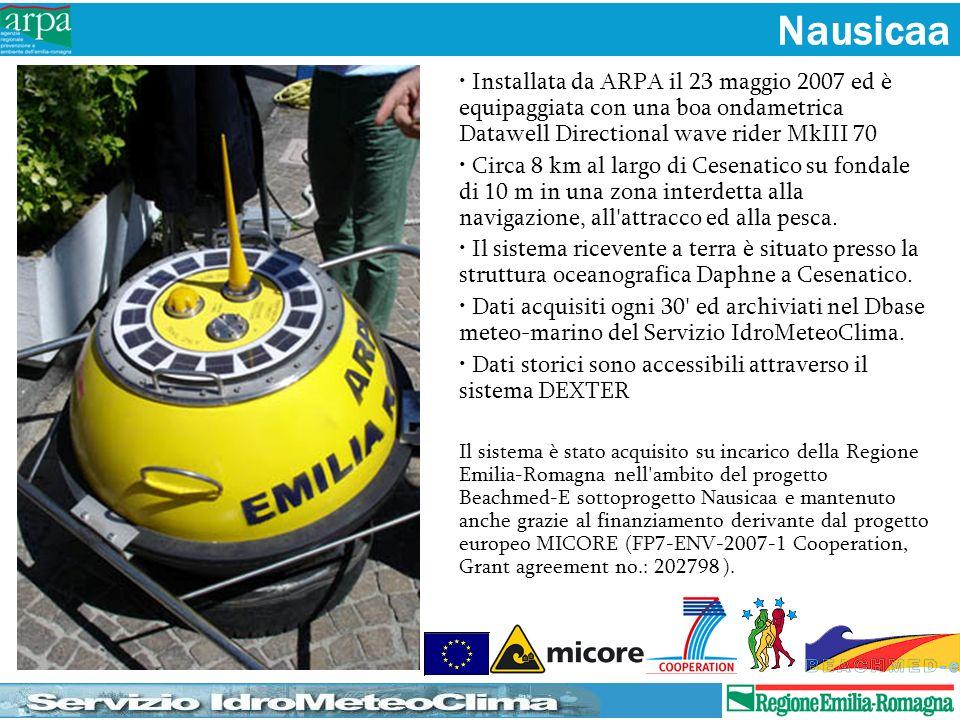 Nausicaa Installata da ARPA il 23 maggio 2007 ed è equipaggiata con una boa ondametrica Datawell Directional wave rider MkIII 70.