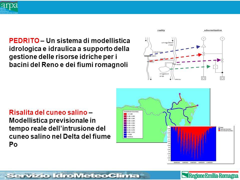 PEDRITO – Un sistema di modellistica idrologica e idraulica a supporto della gestione delle risorse idriche per i bacini del Reno e dei fiumi romagnoli