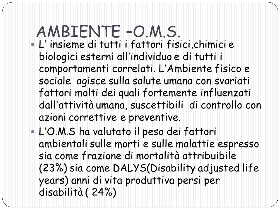 AMBIENTE –O.M.S.