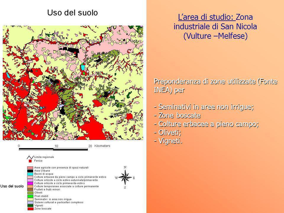 L'area di studio: Zona industriale di San Nicola (Vulture –Melfese)
