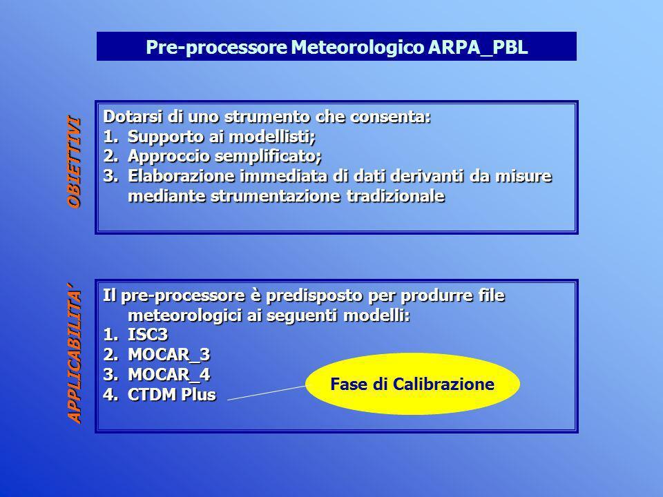 Pre-processore Meteorologico ARPA_PBL