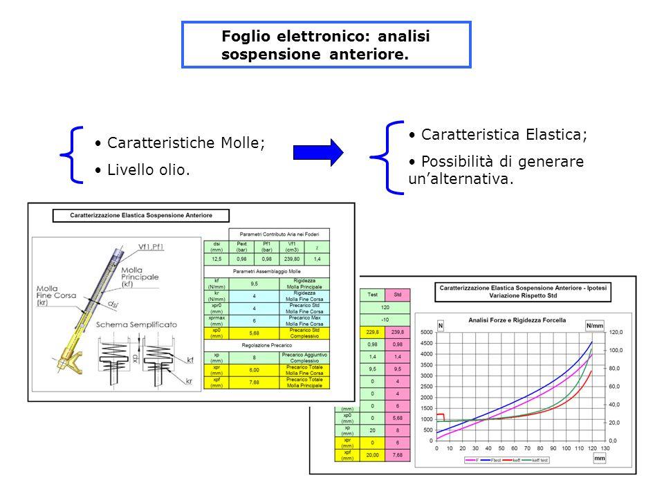 Foglio elettronico: analisi sospensione anteriore.