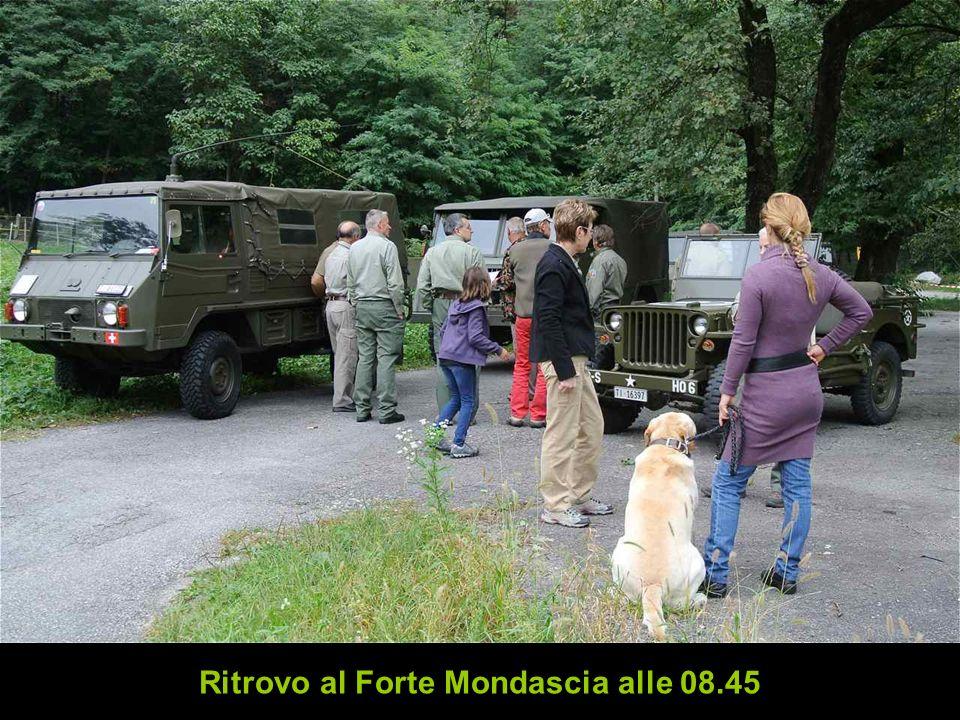 Ritrovo al Forte Mondascia alle 08.45
