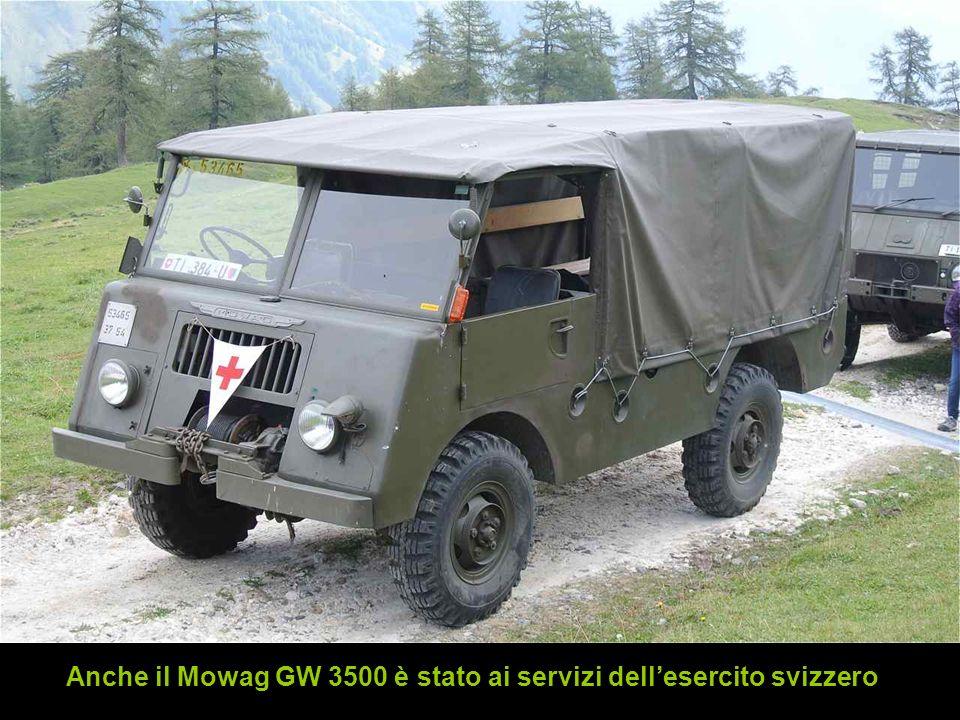 Anche il Mowag GW 3500 è stato ai servizi dell'esercito svizzero