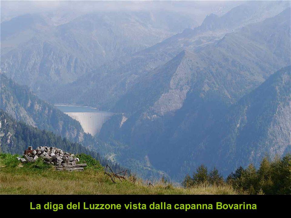 La diga del Luzzone vista dalla capanna Bovarina