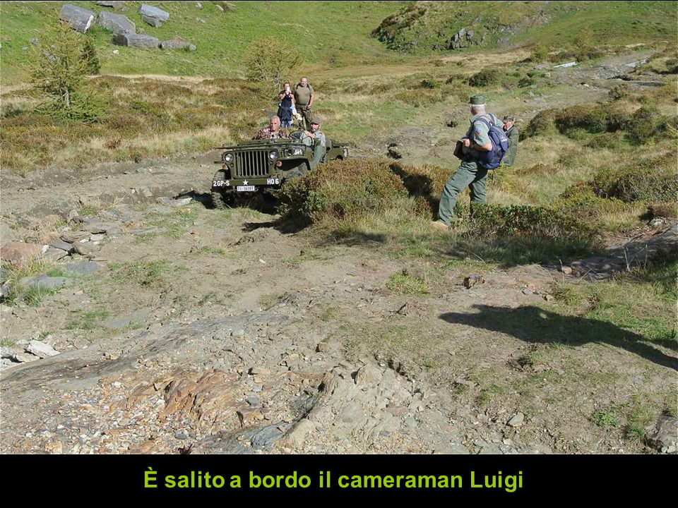 È salito a bordo il cameraman Luigi