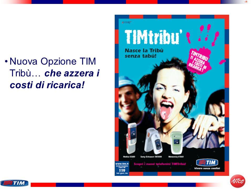 Nuova Opzione TIM Tribù… che azzera i costi di ricarica!