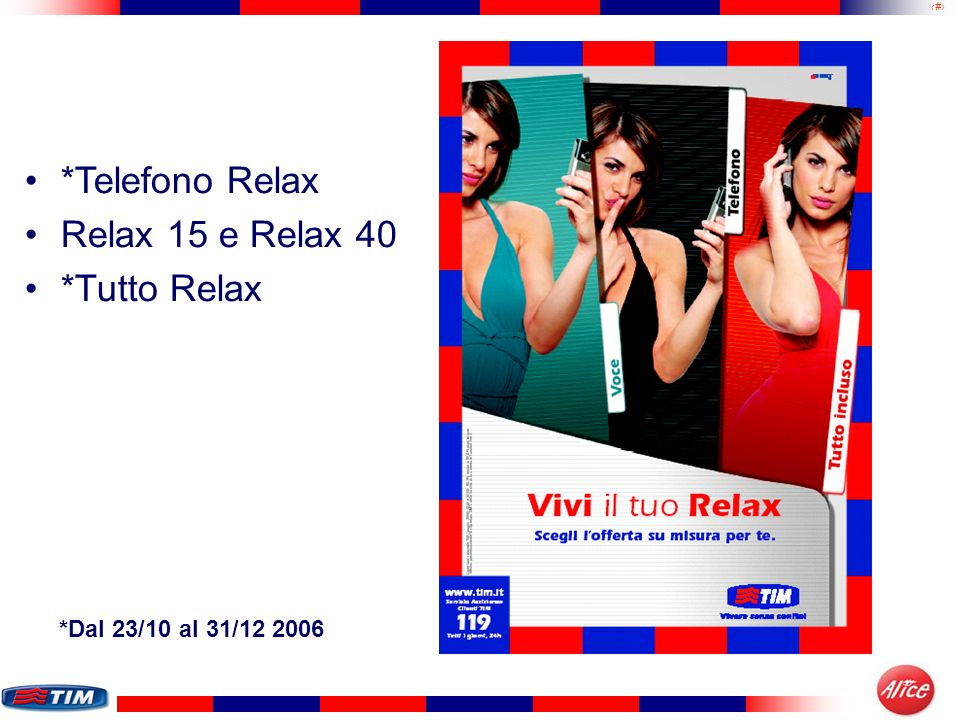 *Telefono Relax Relax 15 e Relax 40 *Tutto Relax