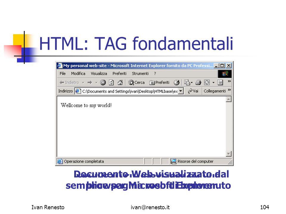 HTML: TAG fondamentali