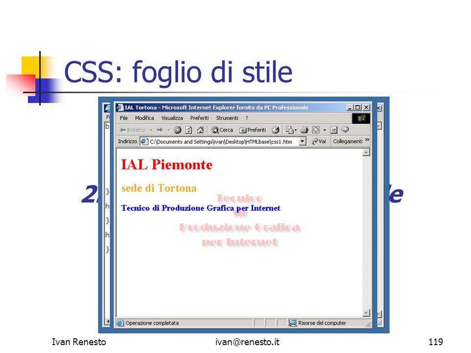 CSS: foglio di stile 1. Scrittura pagina web