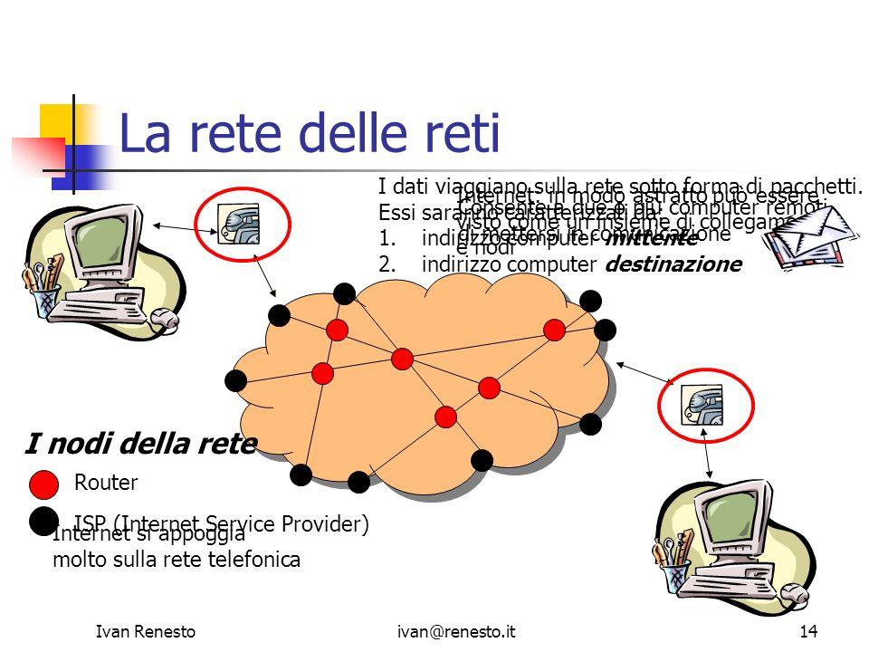 La rete delle reti I nodi della rete