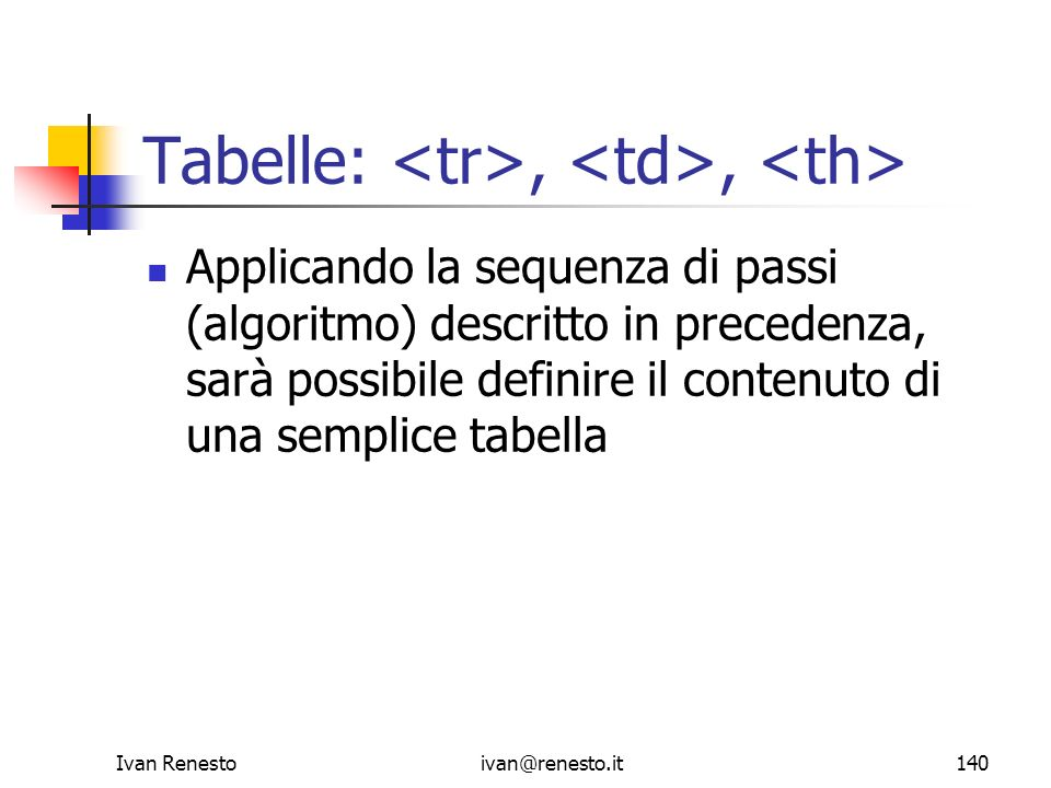 Tabelle: <tr>, <td>, <th>