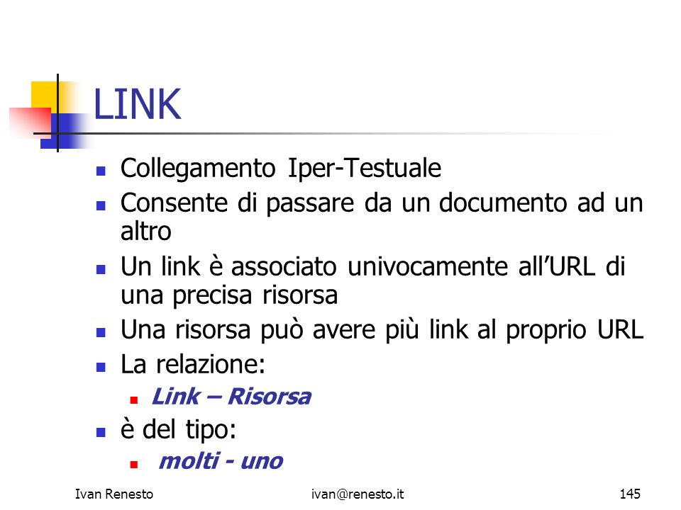 LINK Collegamento Iper-Testuale