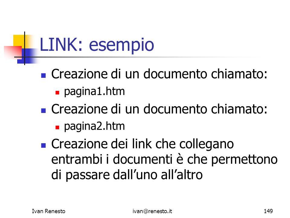 LINK: esempio Creazione di un documento chiamato:
