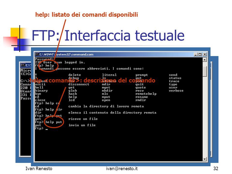 FTP: Interfaccia testuale