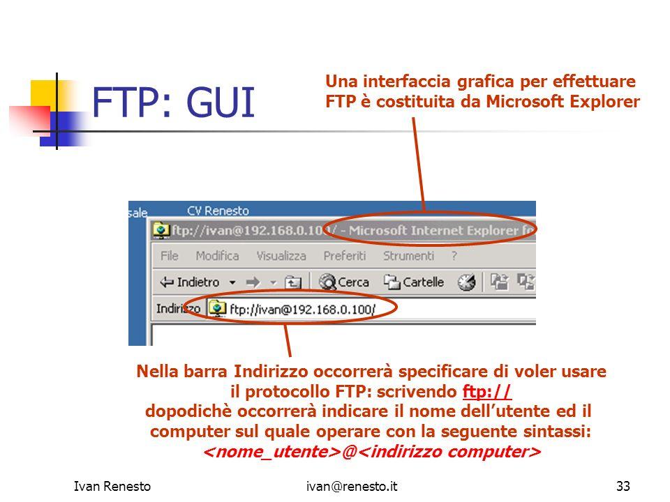 FTP: GUI Una interfaccia grafica per effettuare