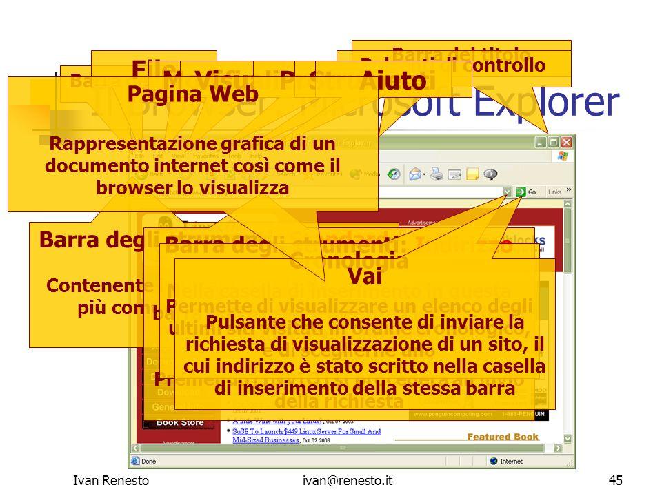 Il Browser: Microsoft Explorer