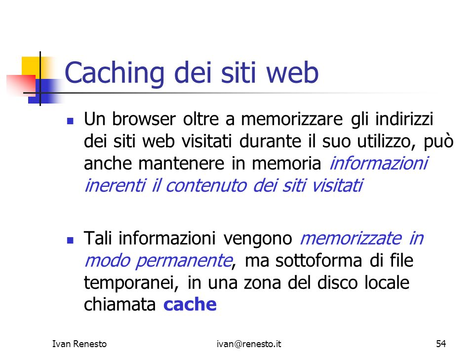 Caching dei siti web
