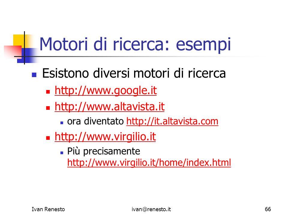 Motori di ricerca: esempi