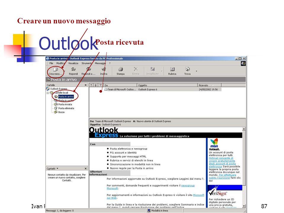 Outlook Creare un nuovo messaggio Posta ricevuta Ivan Renesto