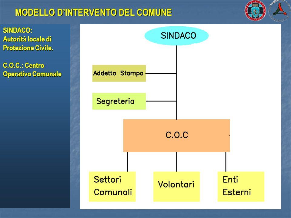 MODELLO D'INTERVENTO DEL COMUNE