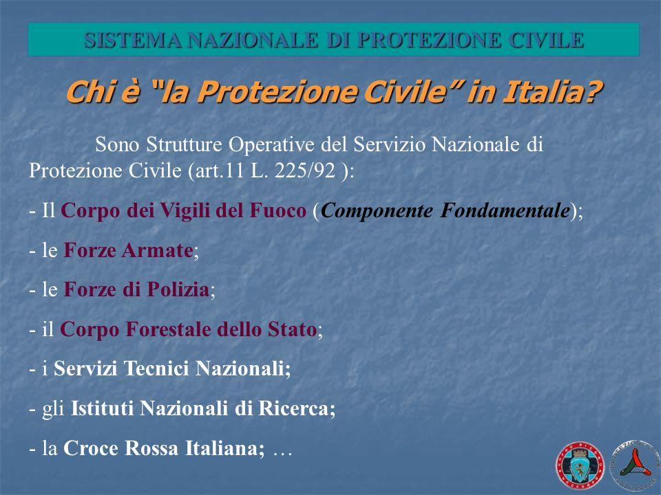 Chi è la Protezione Civile in Italia