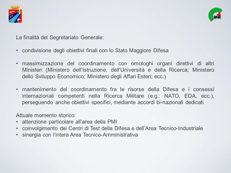 Le finalità del Segretariato Generale: