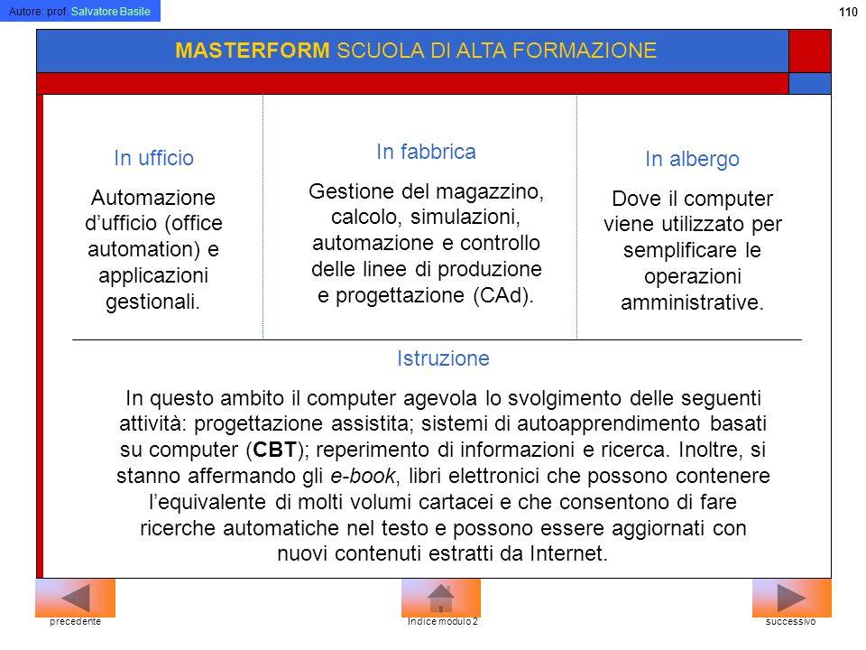 Automazione d'ufficio (office automation) e applicazioni gestionali.