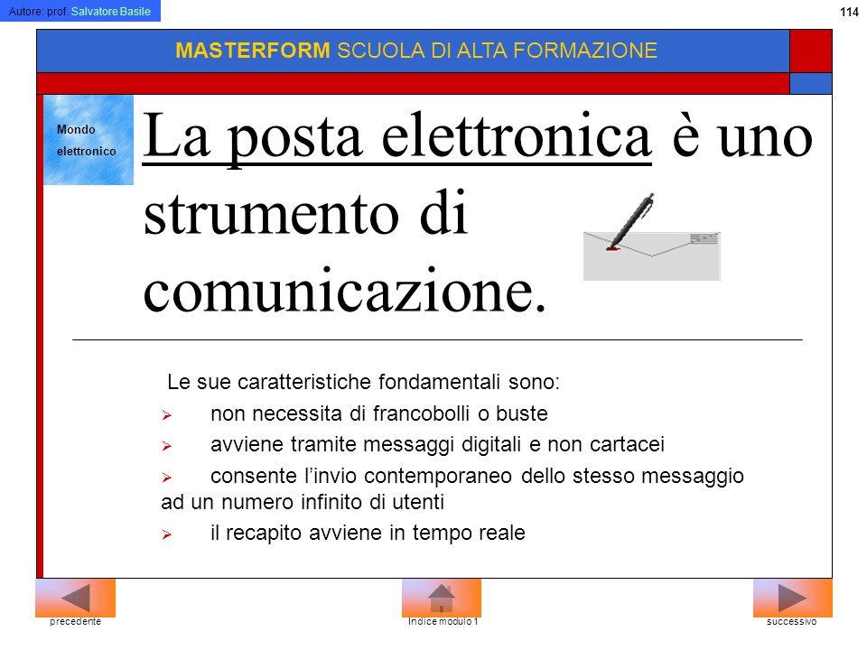 La posta elettronica è uno strumento di comunicazione.