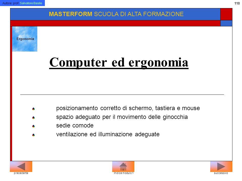 Computer ed ergonomia MASTERFORM SCUOLA DI ALTA FORMAZIONE