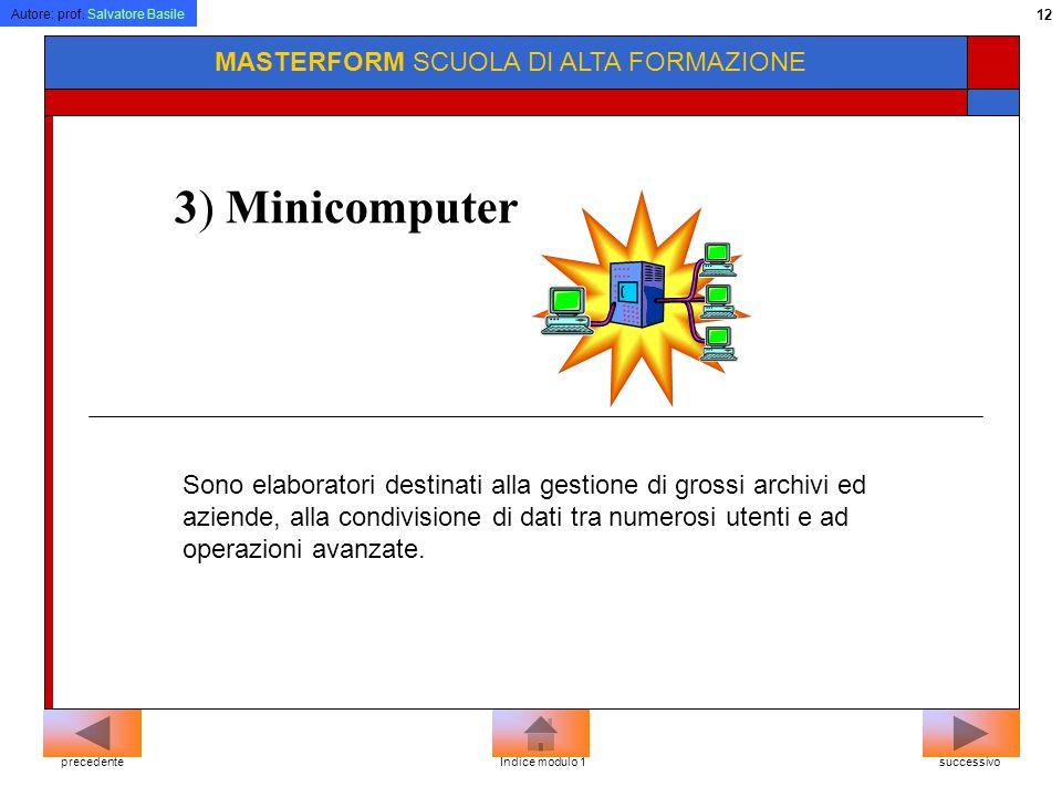 3) Minicomputer MASTERFORM SCUOLA DI ALTA FORMAZIONE