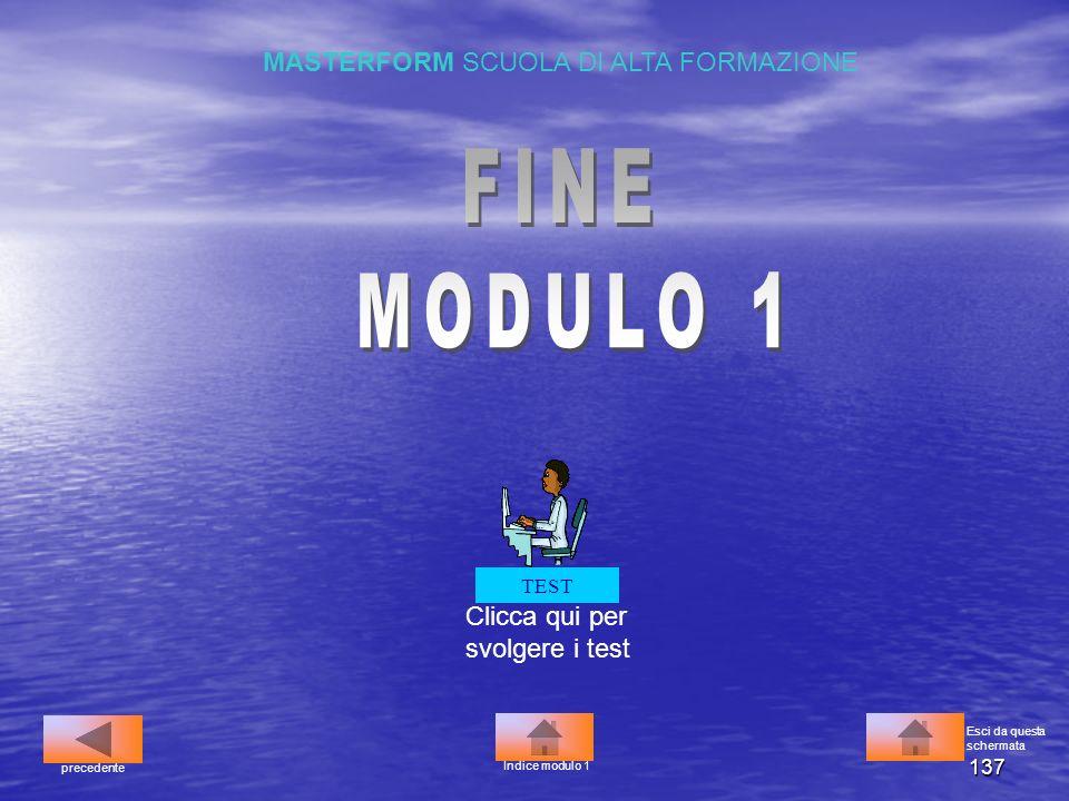 FINE MODULO 1 MASTERFORM SCUOLA DI ALTA FORMAZIONE