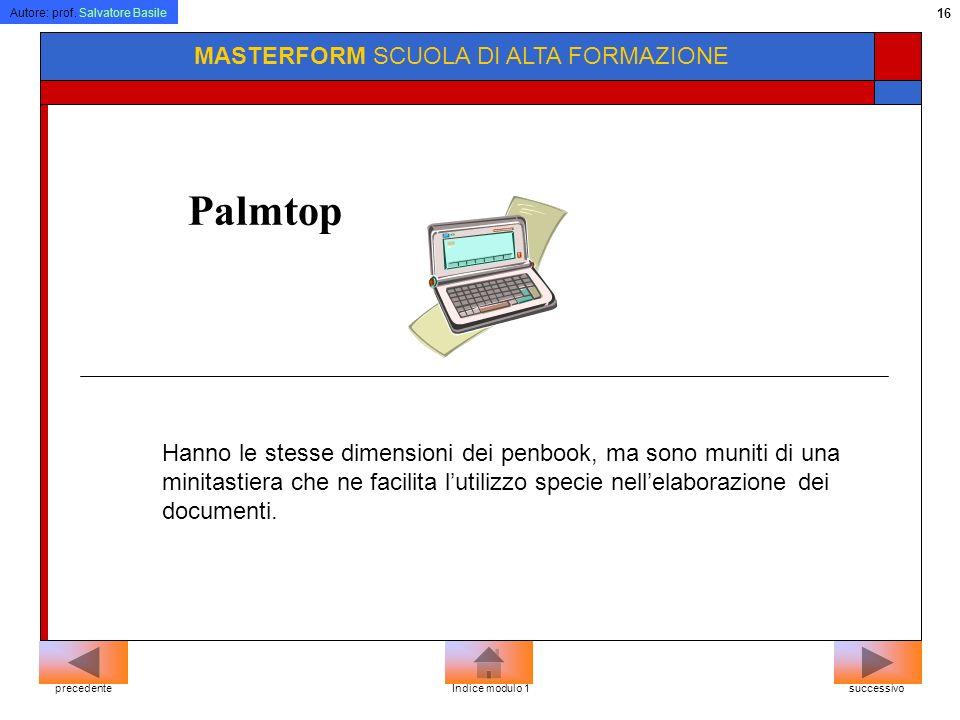 Palmtop MASTERFORM SCUOLA DI ALTA FORMAZIONE