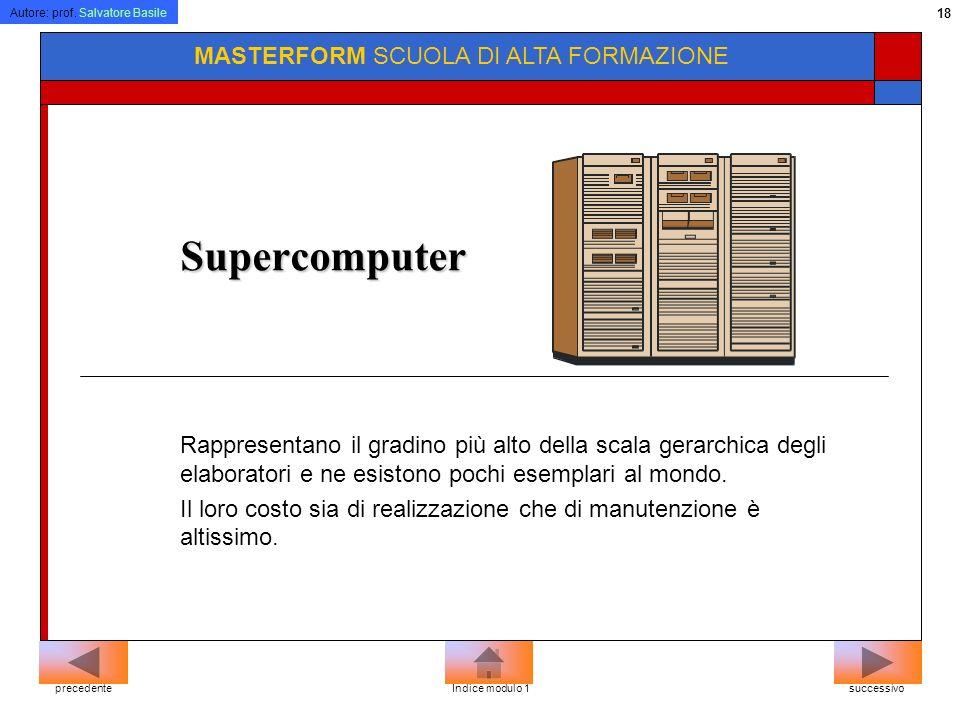Supercomputer MASTERFORM SCUOLA DI ALTA FORMAZIONE